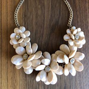 Nordstrom Flower & Crystal Statement Necklace